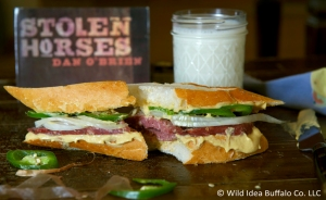 Salami, Onion, & Jalapeno Sandwich