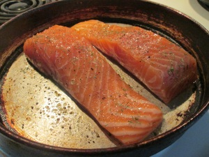 Baked Atlantic Salmon Fillet  Assparagus Rice 001