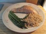 Baked Atlantic Salmon Fillet  Assparagus Rice004