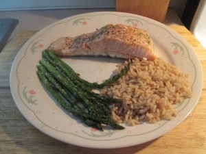 Baked Atlantic Salmon Fillet  Assparagus Rice 004