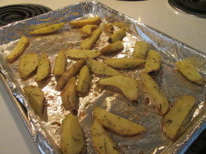 Baked Fingerling Potato Wedges