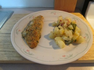 Baked Parmesan Perch Jalapeno Cheese Fried Potatoes 006