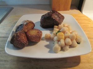Bay Scallops   5 oz. Buffalo Petite Top Sirloin Steak 010