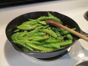 Cumin Spiced Boneless Pork Loin Roast Sugar Snap Peas, and Roast 004