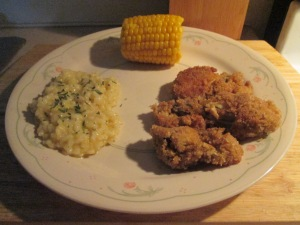 Fried Oysters Butternut Squash Risotto 003