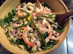 Freshest lettuce, bay shrimp, prawns and more...
