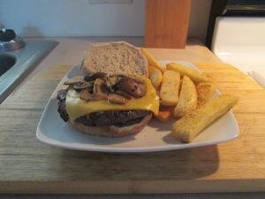 Sharp Cheddar and Mushroom Buffalo Burger 005
