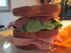 Triple Decker Sandwich  Ham Turkey Pastrami 007