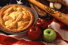 An apple pie is one of a number of American cultural icons.