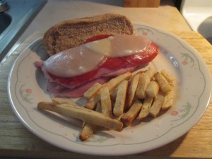 Baked Ham, Pepperoni, and Swiss Mini Sub 014