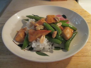 Orange Chicken  w Rice and Sugar Snap Peas 008