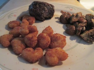 Surf (Pop Corn Shrimp) and Turf 5 oz. Buffalo Top Sirloin 011
