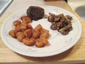 Surf (Pop Corn Shrimp) and Turf 5 oz. Buffalo Top Sirloin 013