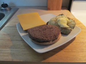 Turkey Burger w Baked Potato 008