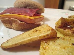 Bacon Cheese Turkey Spamburger Hamburger 011