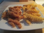 Clam Strips and Baked Fries012