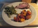 Cumin Spiced Boneless Pork Loin Roast w Spiced Carrots & Buttern018