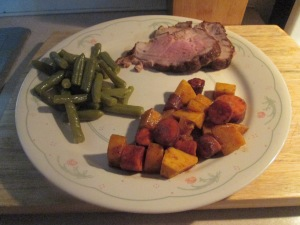 Cumin Spiced Boneless Pork Loin Roast w Spiced Carrots & Buttern 018