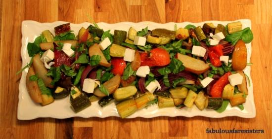 Roasted Vegetable & Pear Salad