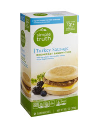 Simple Truth Turkey Sausage Breakfast Sandwiches