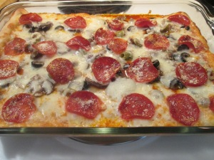 Deep Dish Pizza Casserole 009