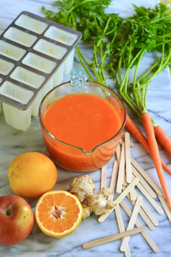 orange carrot ice pops | Brooklyn Homemaker