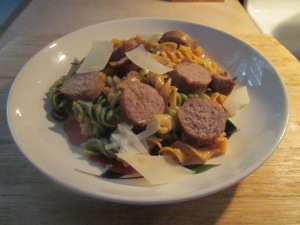 Sweet Italian Turkey Sausage w Italian Pasta Salad 009