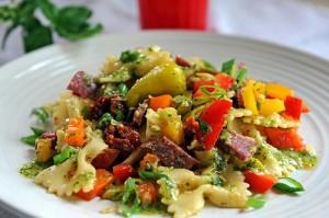 Buffalo Salami Antipasto Pasta Salad