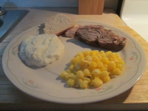 Cumin Spiced Boneless Pork Loin Roast w Mashed Potatoes and Gold 013