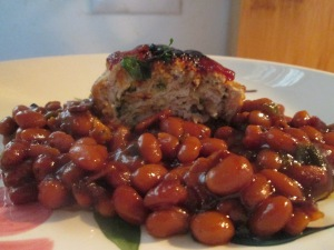 Mini Turkey Meat Loaves and Baked Beans 012