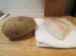 Panko Crusted Cod Fish Sandwich w Baked Potato001