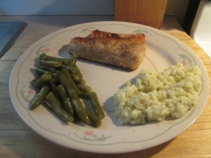 Fried Walleye w Risotto and Cut Green Beans 005