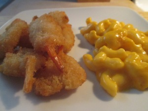 Jumbo Butterfly Shrimp w Mac and Cheese 007