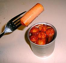 North American Vienna sausage in tomato sauce
