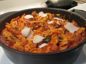 Skillet Chicken Lasagna and Baked French Bread 005