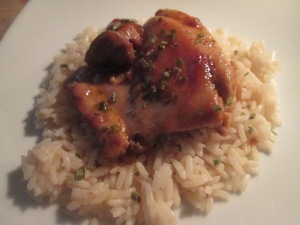 Asian Chicken Thighs w Asian BBQ Beans 011