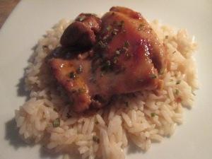 Asian Chicken Thighs w Asian BBQ Beans 011