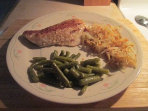 Fried Walleye w Hash Browns and Cut Green Beans 005