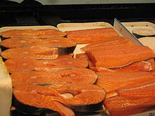 Salmon steak and fillets
