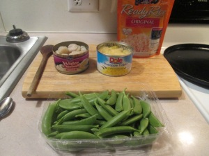 Sweet and Sour Turkey Meatballs w Sugar Snap Peas, Pineapple, Wa 005