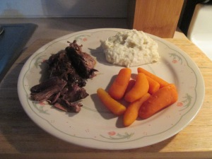 Tavern Style Pot Roast w Mashed Potatoes and Baby Carrots 006