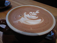 A close-up view of hot chocolate