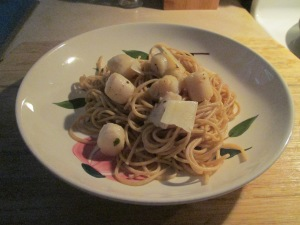 Bay Scallops w Thin Spaghetti 013