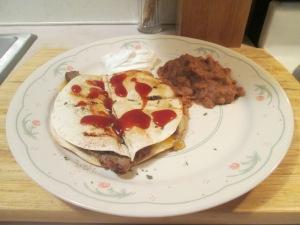Beef Quesadillas w Refried Beans 005