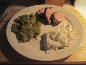 Cumin Spiced Pork Tenderloin w Mashed Potatoes and Italian Cut G 003