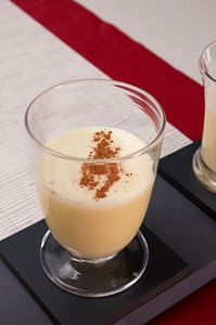 Eggnog with cinnamon