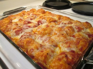 Pepperoni Pizza Bake 008