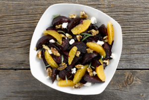 Roasted Beets with Goat Cheese & Walnuts