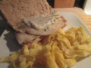Baked Flounder Sandwich w Egg Noodles 009