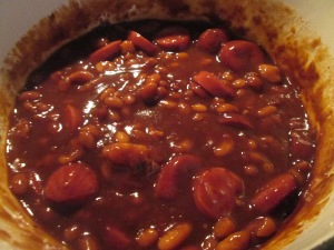 Beans and Smoked Turkey Sausage (Beans and Weenies) 005